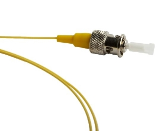 ST Splice On Fiber Optic Pigtail Singlemode, Yellow, 3 Meters