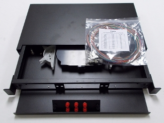 Pre-Loaded 12 Port FC Single Mode Patch Panel with Pigtails