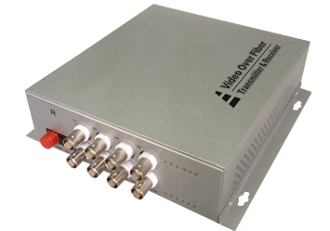 8 Channel Video Fiber Optic Converter with Data