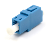 LC Simplex Singlemode Adapter w/o flange Blue