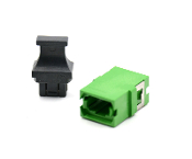 Green Reduced Flange Std. Footprint MTP Adapter w/ 1 Dust Cap