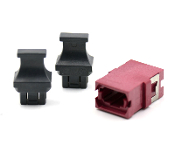Magenta Reduced Flange Std. Footprint MTP Adapter w/ 2 Dust Caps