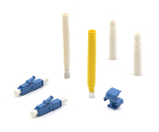 LC Epoxy Type Connectors with a wide variety of options, including Simplex / Duplex, Multimode / Singlemode, 3mm, 2mm, or 900µm boots, and UPC/APC.
