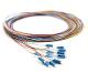 LC 12 Fiber SM Multi Color Fiber Optic Pigtails, 3 Meters