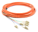 LC Jacketed 6 Pk MM62.5 Orange Jacketed Fiber Pigtails, 3 Meter