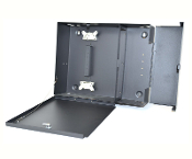 12 LGX Wall Mount Patch Panel with 2 Lockable Compartments