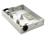 12 Fiber Wall Mount Termination Box with 2 Ports - B