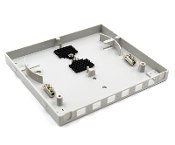 6 Fiber Wall Mount Termination Box with 2 Ports