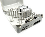 144 Fiber Wall Mount Termination Box with 2 Ports and 6 Trays