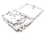 16 Fiber Wall Mount Termination Box with 2 Ports - Cable Glands