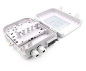 8 Fiber Wall Mount Termination Box with 3 Ports - B