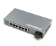 6 Port Fiber Switch 10/100 RJ45 to 1 Fiber Port, WDM 25km