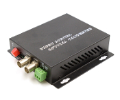 2 Channel Video Fiber Optic Converter with Data