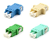 Blue, Green,Beige, Aqua LC Duplex Adapters with or with-out flange