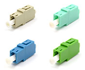 Blue, Green,Beige, Aqua LC Simplex Adapters with or with-out flange