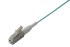 LC Splice On Fiber Optic Pigtail Multimode OM3 Aqua, 3 Meters