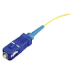 SC Splice On Fiber Optic Pigtail Singlemode, Yellow, 3 Meters