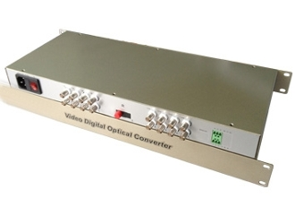 16 Channel Video Fiber Optic Converter with Data