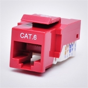 Cat6 Keystone Jack, Tooless type Keystone Jack - Red