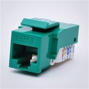 Cat6 Keystone Jack, Tooless type Keystone Jack - Green