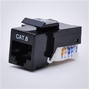 Cat6 Keystone Jack, Tooless type Keystone Jack - Black