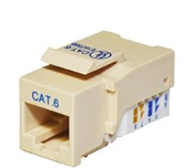 Cat 6 Keystone Jack, Tooless type Keystone Jack - Beige