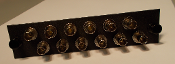 ST 12 Pack Plate, Multimode w/ 12 ST Adapters