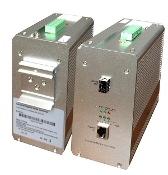 Industrial Ethernet to Fiber Gigabit Single Mode, 1310nm, 20km