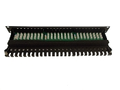 FTP CAT6A patch panel,Krone IDC,Horizontal type