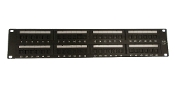 UTP CAT6A patch panel, 48 ports ,dual IDC