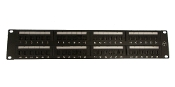 UTP CAT6A patch panel, 48 ports ,dual IDC, label mark type