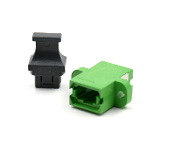Green Full Flange SC Footprint MTP Adapter w/ 1 Dust Cap