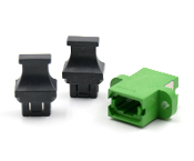 Green Full Flange SC Footprint MTP Adapter w/ 2 Dust Caps