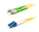 LC/FC-APC Duplex 9/125 Single Mode Fiber Patch Cable - Yellow 1M