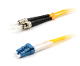 ST to LC Duplex 9/125 Single Mode Fiber Patch Cable - Yellow 2M