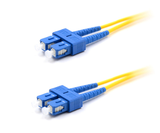 SC/SC Duplex 9/125 Singlemode Armored Patch Cable - Yellow 6M