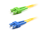 SC/SC-APC Duplex Fiber Optic Patch cable, Singlemode, 3mm  Yellow PVC Jacket, 1 Meter Long