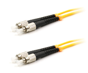 FC/FC Duplex Fiber Optic Patch cable, Singlemode, 3mm  Yellow PVC Jacket, 1 Meter Long