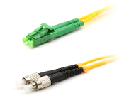 FC/LC-APC Duplex Fiber Optic Patch cable, Singlemode, 3mm  Yellow PVC Jacket, 1 Meter Long