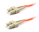 SC/SC Duplex 50/125 Multimode Armored Patch Cable - Orange 1M