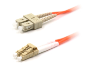 LC to SC Duplex Patch Cable, Multimode 62.5,1 Meter Long