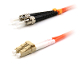 LC to ST Duplex Patch Cable, Multimode 62.5,1 Meter Long
