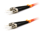 ST/ST Duplex 50/125 Multimode Armored Patch Cable - Orange 1M