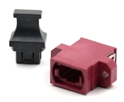 Magenta Full Flange Std. Footprint MTP Adapter w/ 1 Dust Cap
