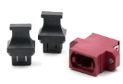 Magenta Full Flange SC Footprint MTP Adapter w/ 2 Dust Caps