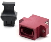 Magenta Full Flange SC Footprint MTP Adapter w/ 1 Dust Cap