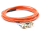 FC Jacketed 6 Pk MM62.5 Orange Jacketed Fiber Pigtails, 3 Meter
