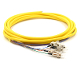 FC Jacketed 6 Pk SM Yellow Jacketed Fiber Pigtails, 3 Meters