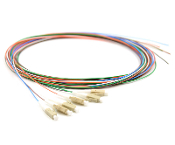 LC Pigtail 6 Fiber MM50 10Gb OM3 Multi Color, 3 Meters