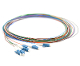 LC 6 Fiber SM Multi Color Fiber Optic Pigtails, 3 Meters